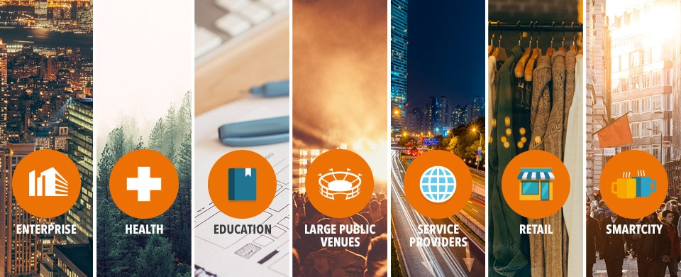 Industries solutions for UCOPIA services