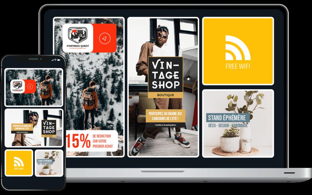 Proposer un écosystème digital via les réseaux wifi points de vente